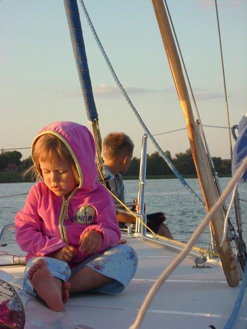 Aktiviteter for børn på sejlturen